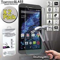 2 Pack Tempered Glass Screen Protector Cover For BLU Studio XL