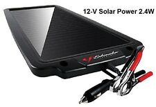 Solar Powered 12 V Battery Maintainer 2.4 W Charger Car Auto Boat Atvs Marine