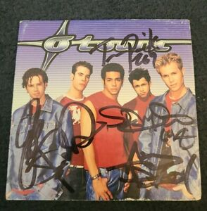 O-TOWN COMPLETE BAND SIGNED OTOWN CD COVER NSYNC BACKSTREET W/COA+PROOF RARE WOW
