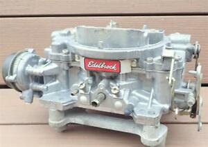 Edelbrock 1411 Carburetor 750 cfm Performer Electric Choke Muscle Car Hot Rod NR
