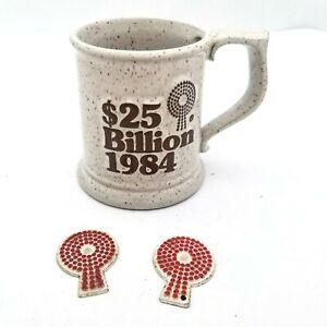 Vintage 1984 $25 Billion Mug & Magnets Advertising Aid Association for Lutherans