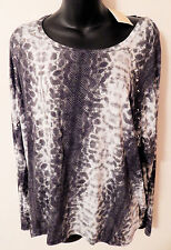 MICHAEL KORS ANIMAL PRINT STUDS SHIRT TOP sz L NEW AUTHENTIC