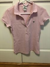 Women's Lacoste Light Pink Five-Button Slim-Fit Polo Shirt - Size 34