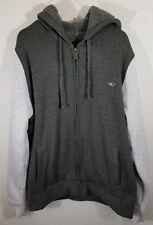 ONeill Super Fleece Mens Medium Zip Sweatshirt Jacket Lined Hooded Gray NWOT