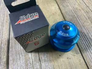 EDGE Threadless Headset BLUE ANODIZED 1-1/8 STEER TUBE 44mm CUPS OD 30mm RACE