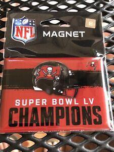 Super Bowl LV 55 Champions Tampa Bay Buccaneers NFL Football Refrigerator Magnet