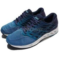 Asics FuzeX Blue Navy White Men Running Training Shoes Sneakers T639N-4949
