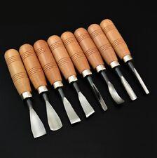 8X Trockene Hand Holzschnitzerei Werkzeuge Chip Detail Meißel Messer Große Größe