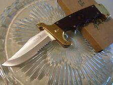 Couteau Elk Ridge Gentleman Folder A/O Acier 3CR13 Manche Bois Vintage ERA930GB