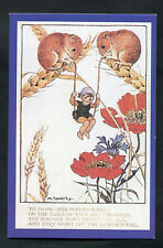 C1990s Nostalgia Card: C1920s Millicent Sowerby Cartoon, Fairy/Dormice Swing