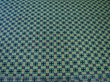 3 Yards Quilt Cotton Fabric- Benartex Star of Hope Medallion Plaid Red on Green