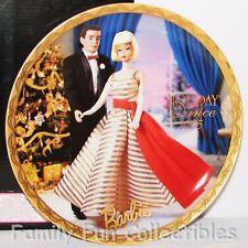 Barbie Doll~1996 Enesco~Le Plate~Holiday Dance 1965 Figure~Porcelain w/ Coa~Mib
