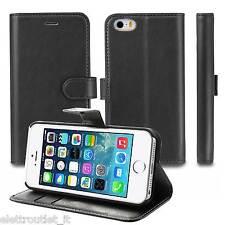 Custodia Luxury Libro Portafogli Flip Cover Stand per Apple iPhone SE