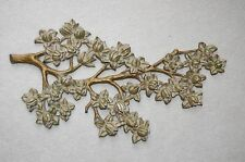 "30""x18"" LG.Vintage Syroco Flowering Tree Branch 4465B Wall Decor/ Sculpture"