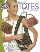 Annie's Attic Terrific Totes & Purses 7 Patterns Crochet & Weave Book 873710