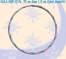 HULA HOP 10 Pz. 70 cm diam. 1,5cm colori assortiti, sport, ginnastica COD.026366