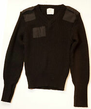 1980's US Army Jack Young Commando Wool V Neck Military Sweater Ribbed Size 36