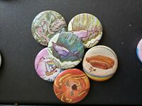 Vintage Collectible Pin Back Buttons Noah's Ark Animal Pack Lot of 6