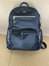 TUMI Voyageur Carson Backpack 196300 Black With Gold Zipper