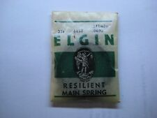 ELGIN P/W MAIN SPRING 37s  #4457 1st MODEL / 8-DAY  FREE SHIPPING