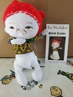 Soft Sculpture One of a Kind Artist Doll by Jan Shackelford, Snow Flurry Series