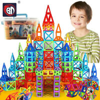 110 Piece Gift Magnetic Tiles Magnetic Building Blocks with Wheels Toys for Kids