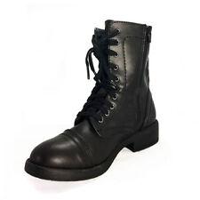 TOP Stiefeletten Damenschuhe Used Optik Leder Boots 1392 Grau 36
