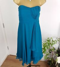Exquisite Coast Dress Strapless Silk Wedding Party Prom Occasion Teal Size UK 12