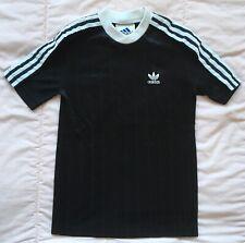 Adidas Soccer Jersey Vtg 90s Youth Kids Black Trefoil Striped Football World Cup