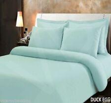 400 Thread Egyptian Cotton Super King Bed Duvet Cover Bedding Set Duck Egg Green