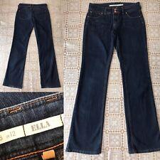 Topshop moto Ella Jeans Size 12 W30 L34 extra long blue denim flare bootcut E79