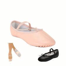 Ballet Dance Leather Shoes Split Sole Children's & Adult's Sizes