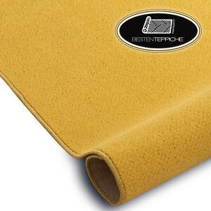 Lunga Durata Moderno Pavimento Tappeto Eton Giallo Grandi Formati! su Misura