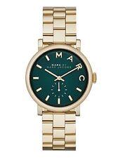 NUOVO Marc Jacobs Tono Oro Verde in Acciaio Inox Quadrante Ladies Watch MBM3245