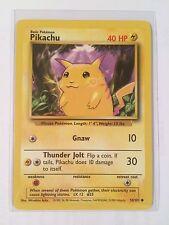 Pokemon Card - Pikachu 1999 Edition 1st Print Base Set PL EX 58/102 Common