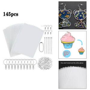 145 PCS/SET Heat Shrink Plastic Sheet Kit Include 20 PCS Blank Shrinky Art Paper