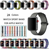 Woven Nylon Wrist Band Strap Bracelet For Apple Watch iWatch Series 4 40MM 44MM