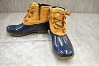 Sperry Saltwater Chevron Quilted Nylon Duck Boots, Women's Size 8 M, Yellow