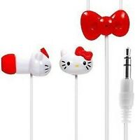 New Hello Kitty Earbuds with Microphone 3.5mm Jack for iPhone, MP3/MP4, iPod