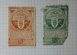 Espozione Filatelica Inernazionale Milano Italy 1906 Philatelic Souvenir Ad