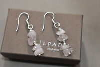 SILPADA W1005 Sterling Silver and Rose Quartz Earrings RARE HTF Dangle Drop