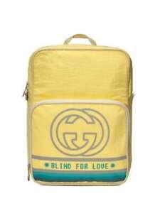 Gucci Backpack Interlocking GG Print Yellow 100% Genuine