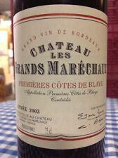 Château Grands Maréchaux Premières Côtes de Blaye 2003