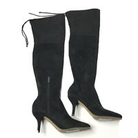 Vince Camuto Women's Ashlina Knee High Heel Black Suede Boots Size 9.5