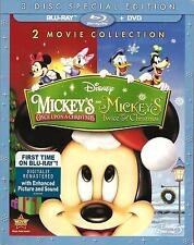 Disney - Mickey's Once and Twice Upon A Christmas - 2 Movies - BLU-RAY + DVD new