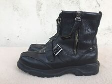 EUC Vintage Polo Ralph Lauren Double Zip Black Leather Boots US 7.5