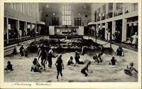 Norderney Nordsee alte Postkarte ~1930/40 Partie im Wellenbad Badegäste Kinder