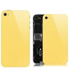 Yellow Glass Back Screen Replacement Rear Case Cover Assembly for iPhone 4S