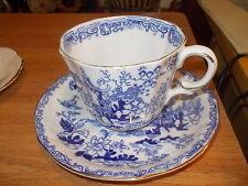 ROYAL ALBERT Bone China Cup & Saucer - Scalloped, Blue Oriental Scene