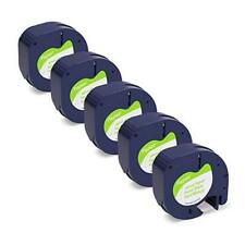 Compatible Label Tape Replacement For Dymo Label Maker Refills 91330 10697 5